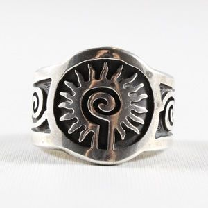 Other - MENS Sterling Silver Sun Signet Ring 9